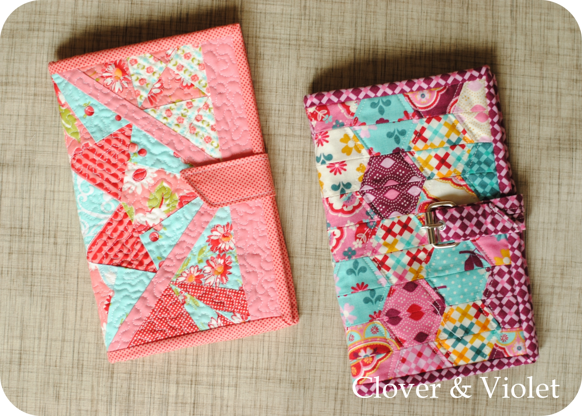 Diy Quilted Book Cover : Clover violet — kindle cover tutorial