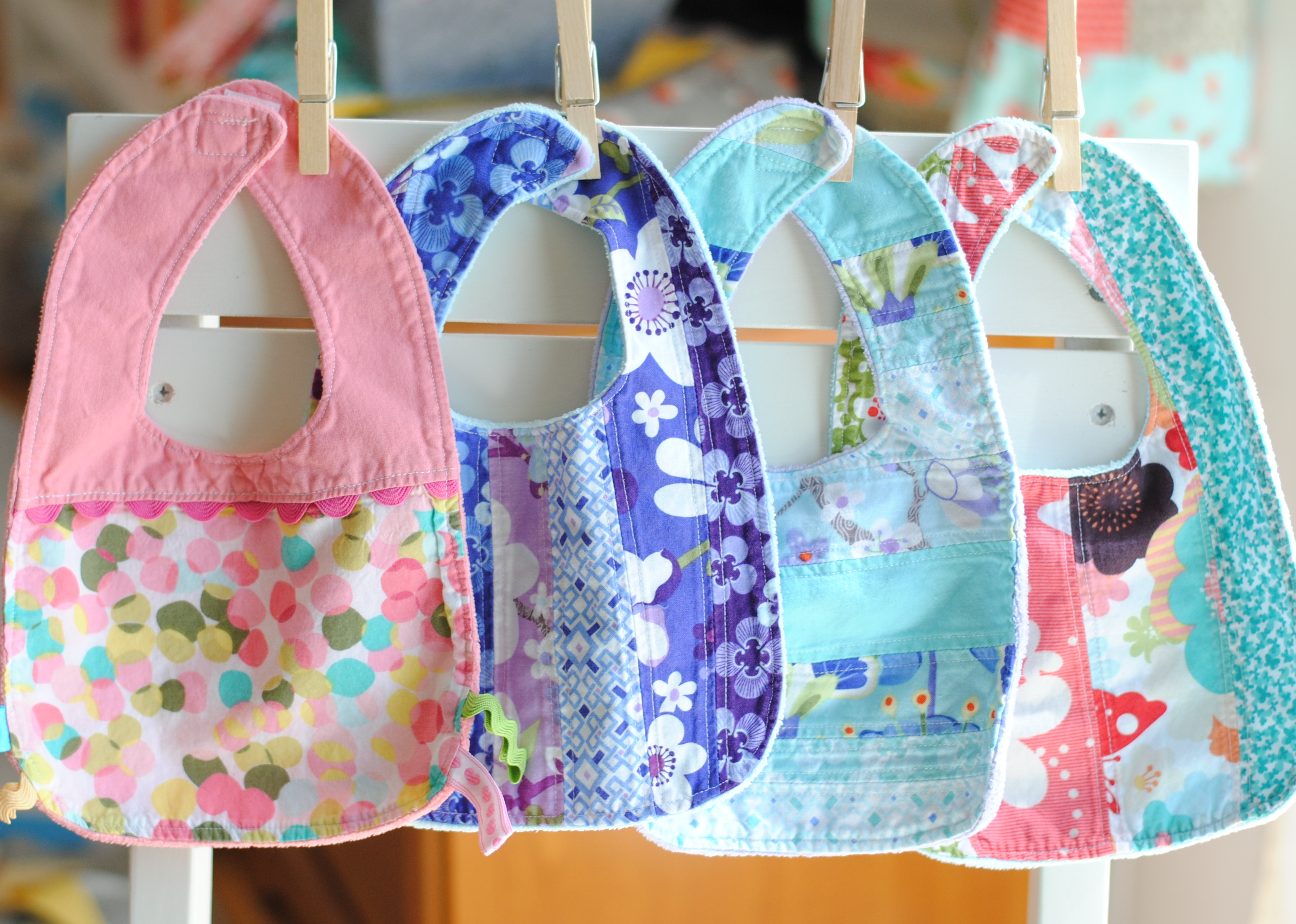 Clover Amp Violet Little Baby Bibs Tutorial