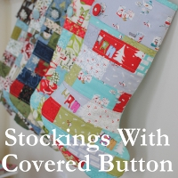 Stockings with covered button tutorial