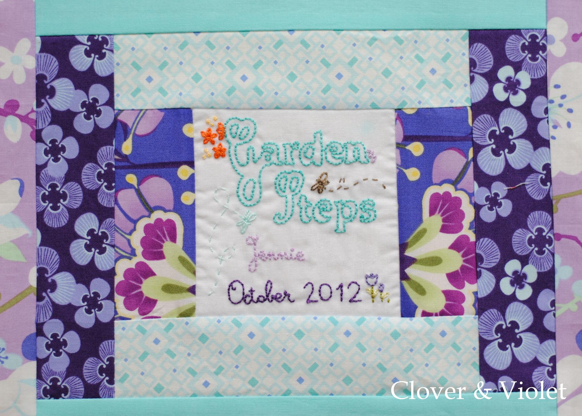 Garden Steps :: Finishing the Quilt