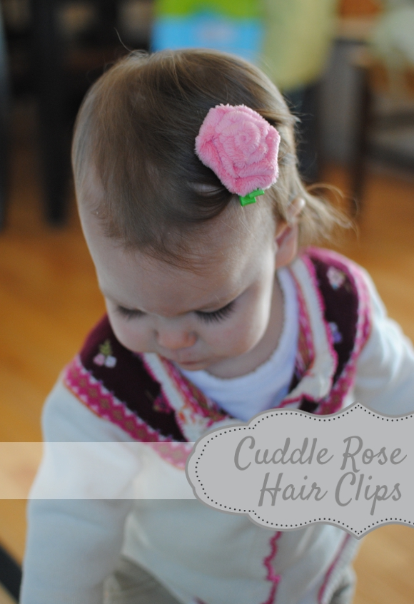 cuddle rose hair clips 2