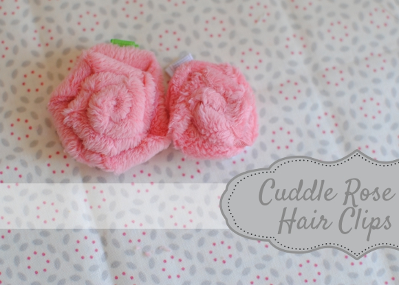 cuddle rose hair clips