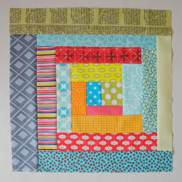 Wonky Log Cabin Block