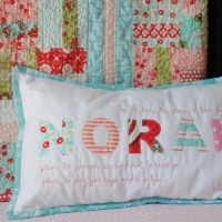 Appique Name Pillow with Verse 1