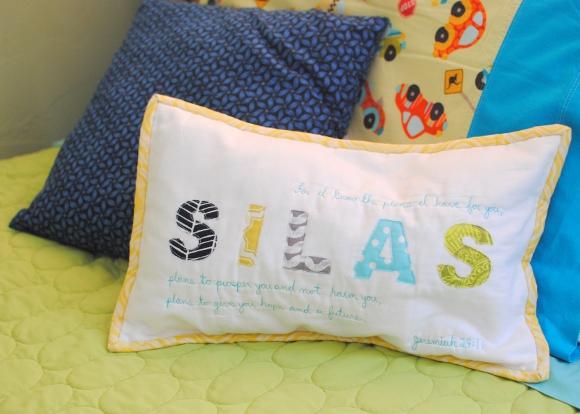 Appique Name Pillow with Verse