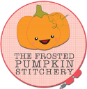 Frosted Pumpkin Stitchery