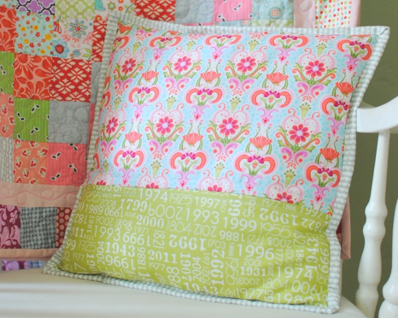 finished pillow back