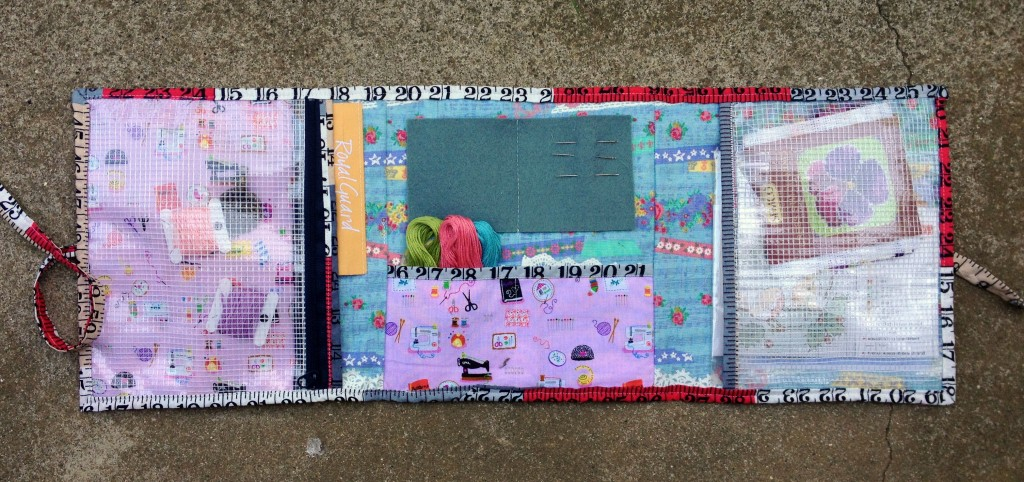 Travel sewing kit pockets