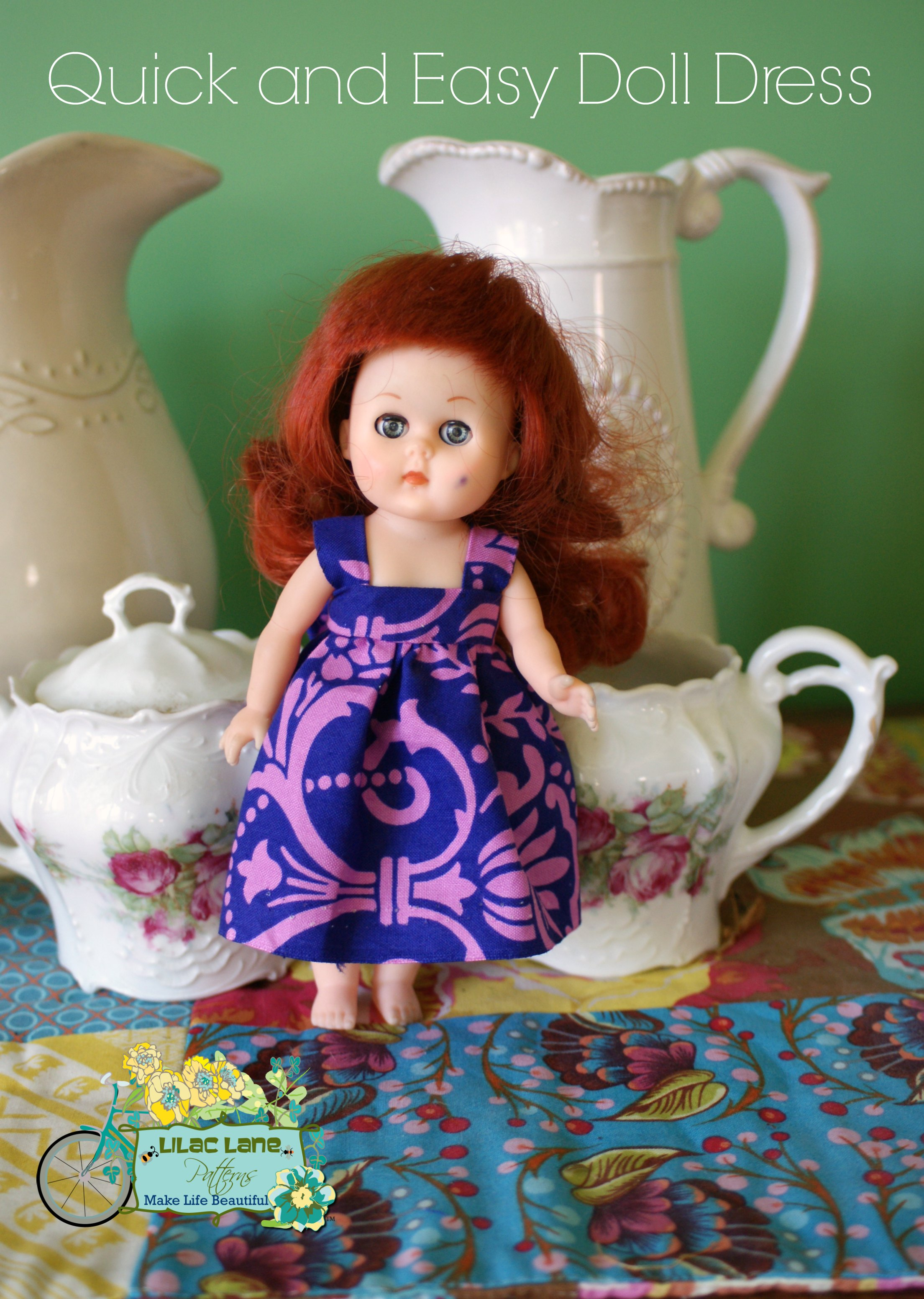 Melissa Stramel Lilac Lane Patterns Quick and Easy Doll Dress Tutorial