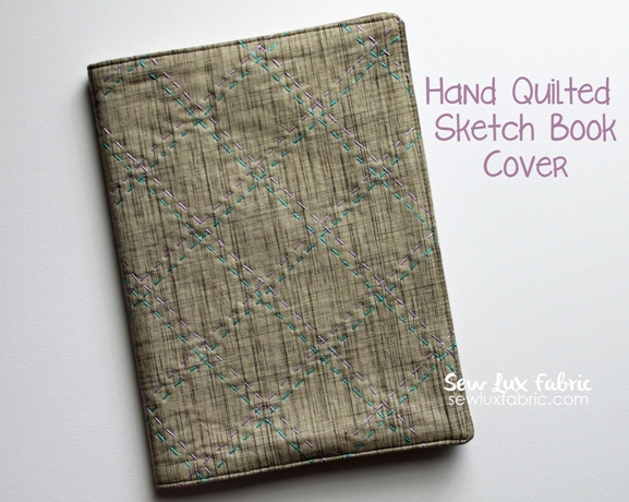 Quilted Book Cover Pattern : Clover violet — sew lux hand quilted sketch book cover