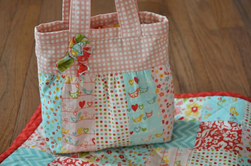 Diaper bag & quilt