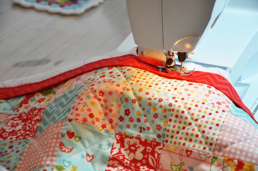 binding on quilt