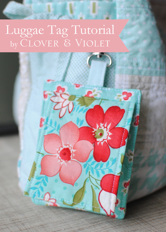 Luggage Tag Tutorial {Back to School at Ellison Lane}