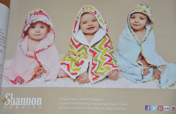 Our Scrappy Happy Hooded Towels {Quilts and More magazine}