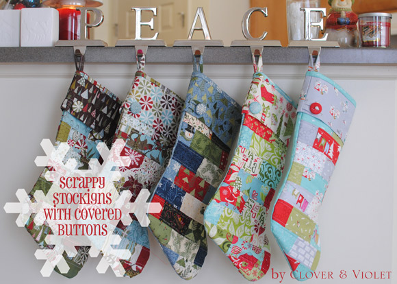 Scrappy Stockings with Covered Button {Tutorial}