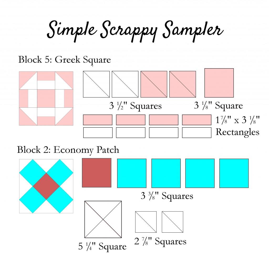 Simple Scrappy Sampler 5-6