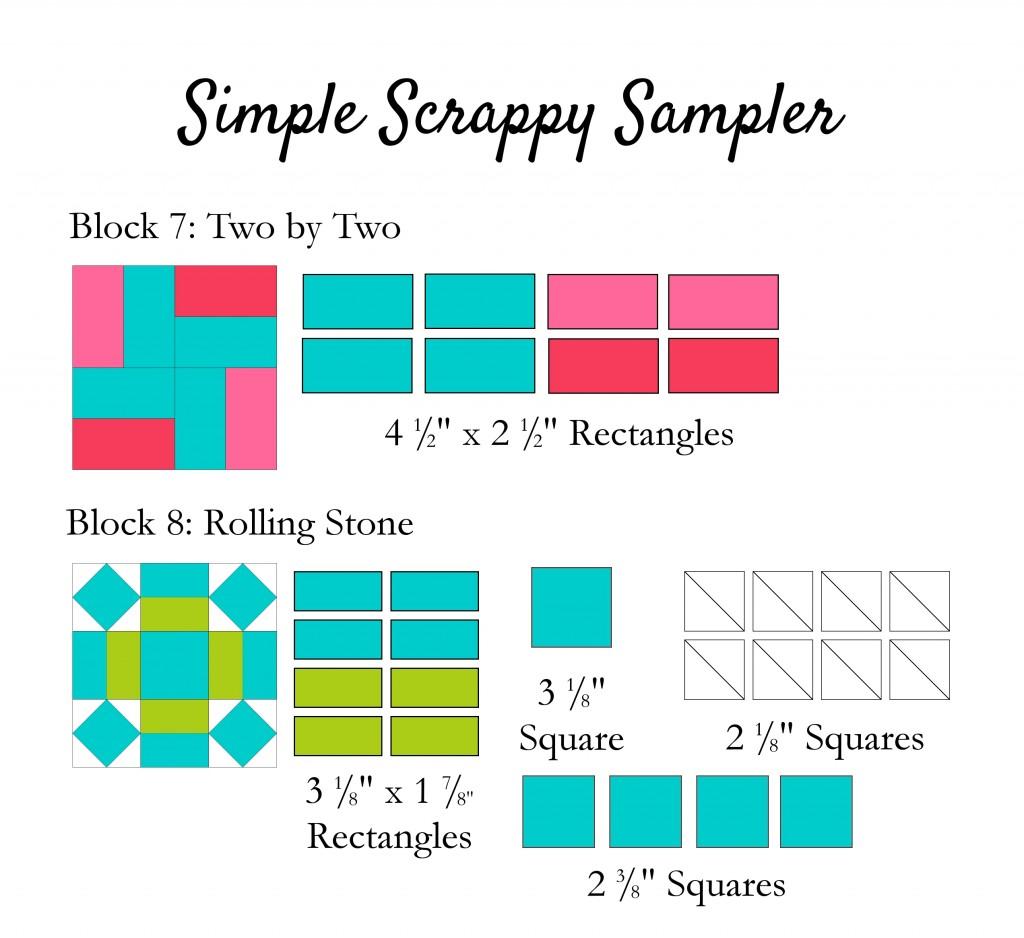 Simple Scrappy Sampler 7-8