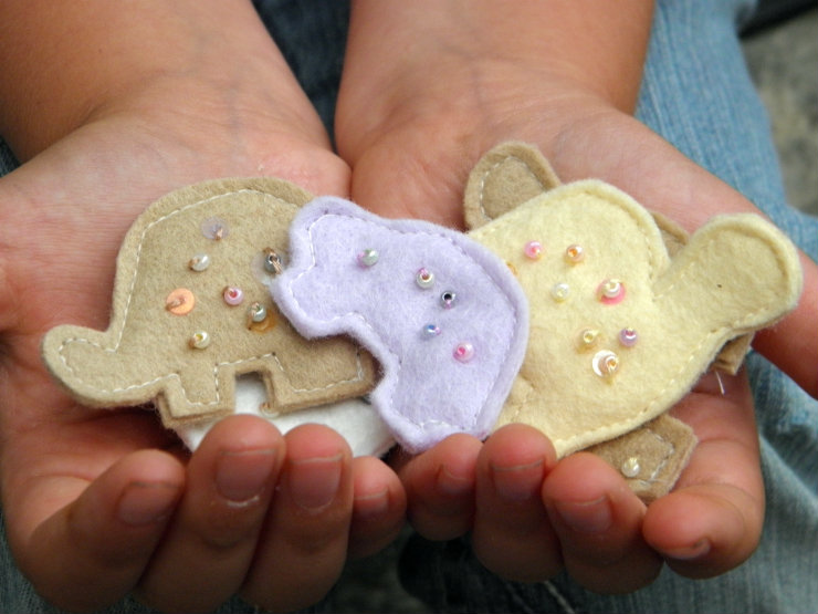 Felt Animal Cookies {Sewing with Children}