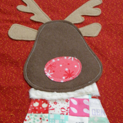 Rudolph Bag {Tutorial – Sewing with Children}