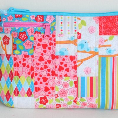 the Cora purse {Free Pattern featuring Lovebirds by RJR Fabrics}