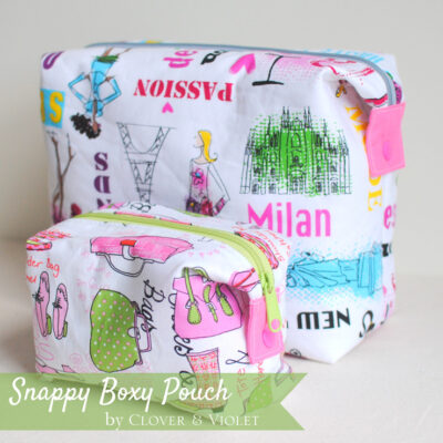 Snappy Boxy Pouch in Jet Set by Benartex {Tutorial}