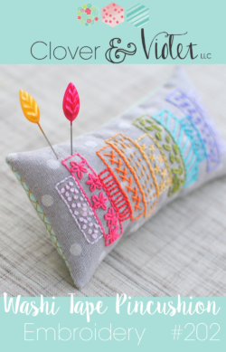 washi tape pincushion
