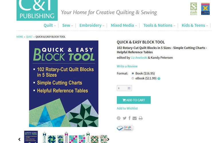 Simple Scrappy Sampler :: Quick & Easy Block Tool by C&T Publishing