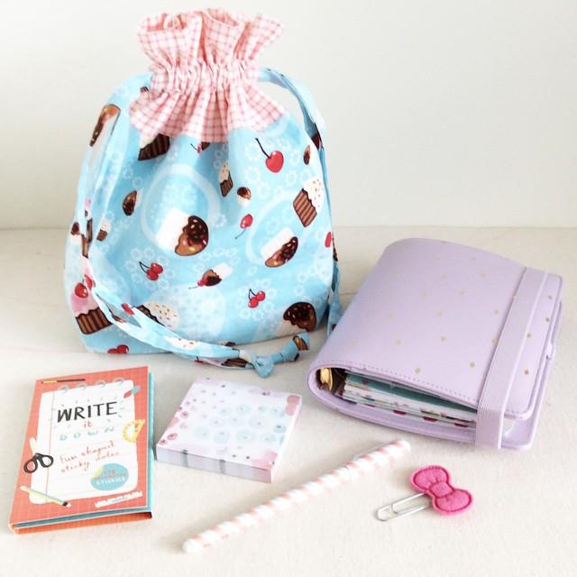 Clover & Violet — Lined Drawstring Bag by In Color Order