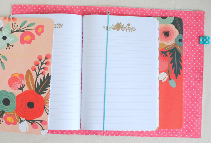 Fabric Traveler's Notebook {Mini Tutorial}