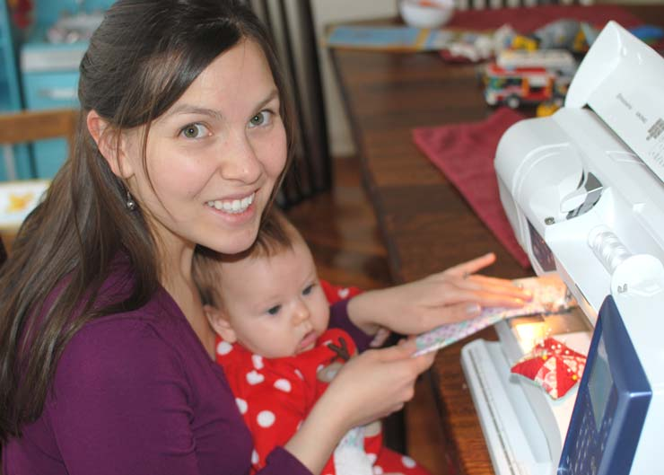 sewing-with-baby