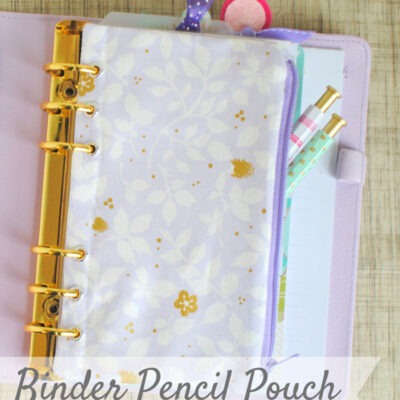 Binder Pencil Pouch {Tutorial}