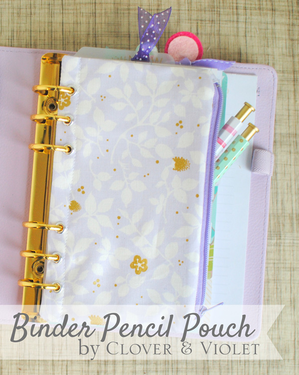 Binder Pencil Pouch {Tutorial}