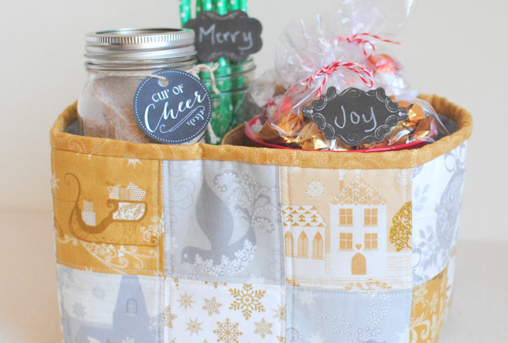 Divided Gift Basket Tutorial {Windham Christmas in July Blog Hop & Giveaway}