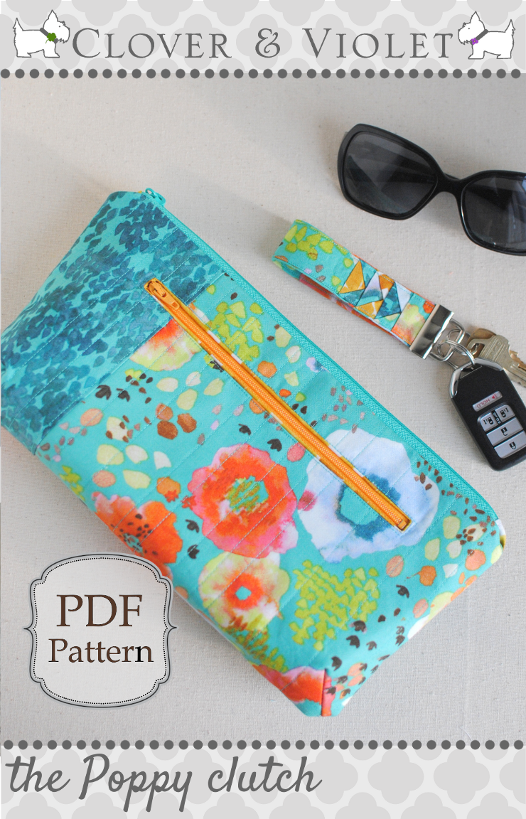 The Poppy Clutch {Free Pattern for the Flora Blog Hop at Windham}