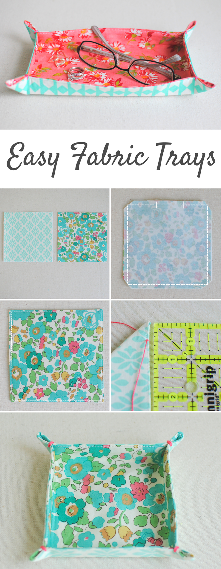 Fabric Trays at Clover & Violet
