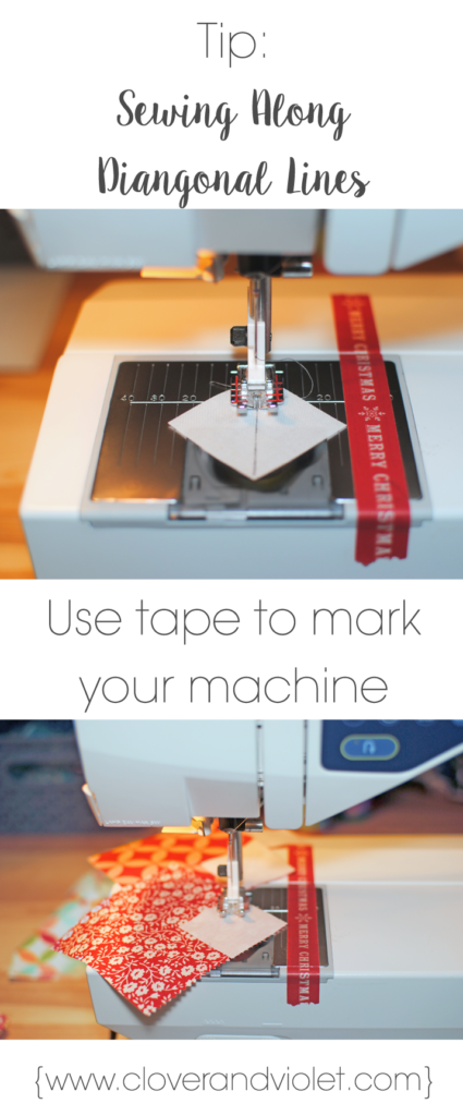 Use tape to mark you machine instead of each individual corner square.
