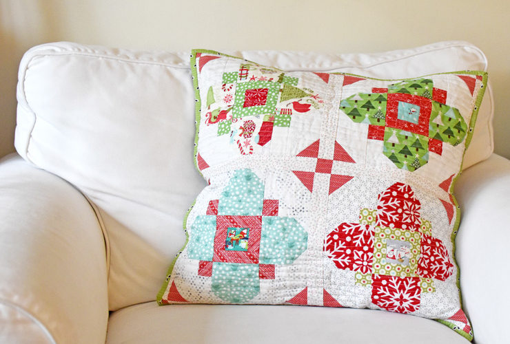 Glisten Quilt Along :: Pillow Finish