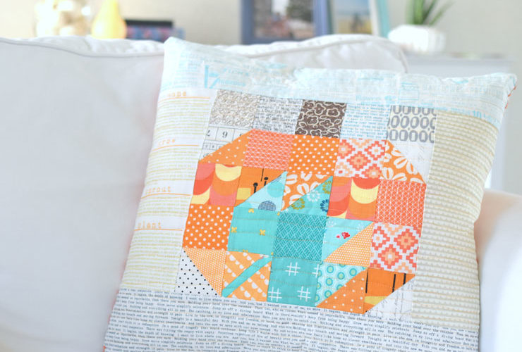 Patchwork Pumpkin & Maple Leaf Pillow :: Lovely Little Patchwork Blog Tour