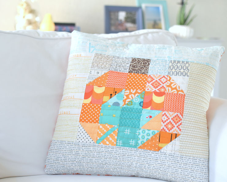Patchwork Pumpkin & Maple Leaf Pillow :: Lovely Little Patchwork Blog Tour