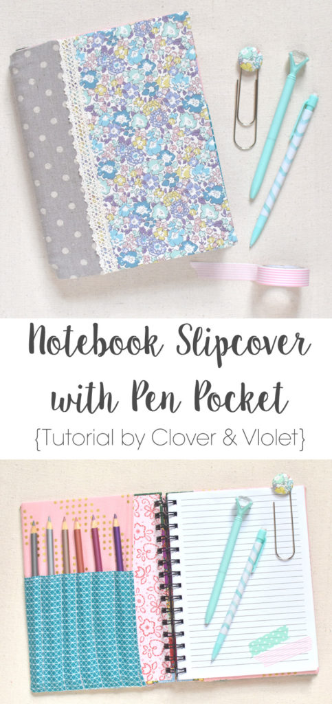 Notebook Slipcover with Pen Pocket