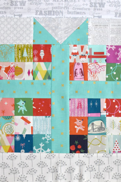 Pixelated Present :: Free Quilt Block Pattern