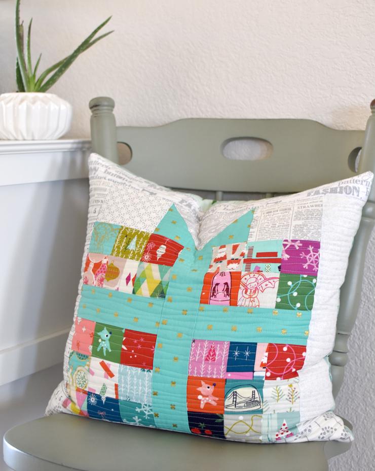 pixelated-present-pillow