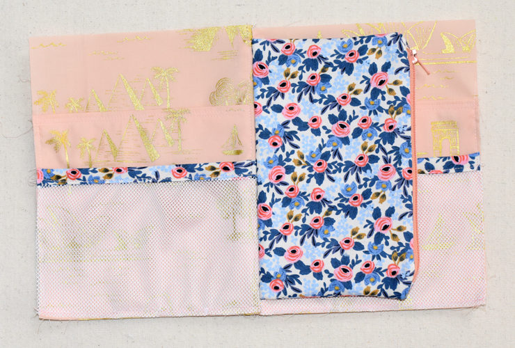 Flora Supply Case Sew Along :: Alternate Pocket Ideas #florasewalong