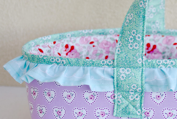 The Rosie Baby Basket & Little Dolly Fabric